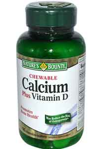 Natures Bounty Chewable Calcium plus Vitamin D 100 Wafers
